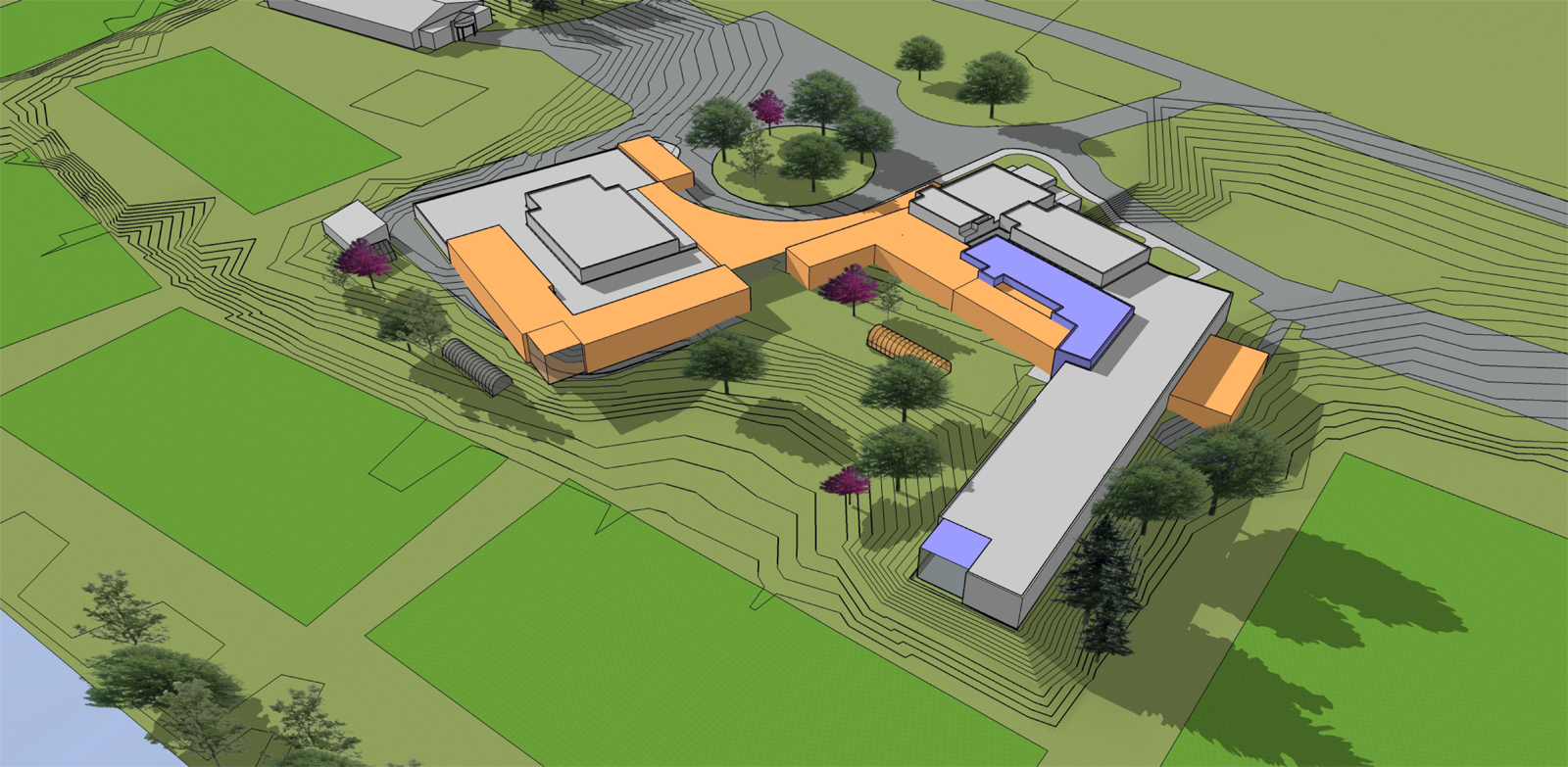Woodstock-Middle-and-High-School-design-Jack-Rossi-Landscape-architect-vermont